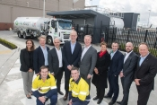 Air BP team with Chris Cowan, CEO Essendon Fields