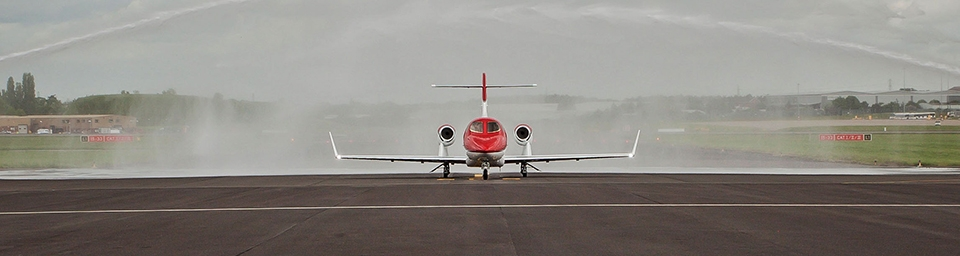 HondaJet arrives at Marshal FBO - Birmingham