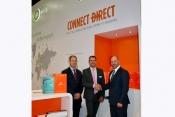 Bruce Norfolk, Osprey Flight Solutions, VP Sales Steve Woods and Andrew Nicholson CEO, Osprey Flight