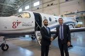 Captain Raman Oberoi, COO, Falcon Aviation with GI Aviation General Manager Marios Belidis.