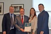 Aeropeople Management team celebrate performance award