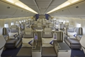 Air Astana B767 Business class.