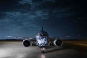 Air Astana's first new generation Embraer E190-E2 features Snow Leopard livery.