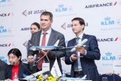 Air Astana signs codeshare agrreement with Air France and KLM.
