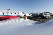 Air BP fuelling a Pilatus PC12 of Royal Flying Doctor Service
