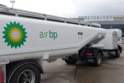 Air BP fuels its first customer at Muenster-Osnabrück International airport, Germany.