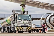 Air BP Tanker fuels A320 at Galeao Airport Rio De Janeiro, Brazil