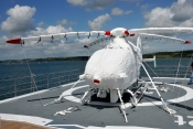 Airbus H135 on superyacht with Air Covers