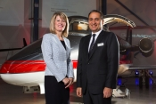 Amanda McMillan, MD of Glasgow Airport and Marwan Khalek CEO GAMA