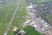 Ariel View Of Cambridge Airport