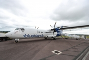Blue Islands ATR72 at Exeter Airport