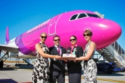 Budapest Airport celebrates Wizz Air's new Budapest -Istanbul to Istanbul route.