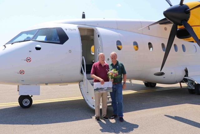 Emerald Media - Captain Peter Weger celebrates the end of a 50-year