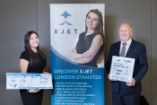 Carly Swetman, Deputy General Manager XJet and Paul Forster, General Manager XJet.
