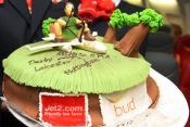 Celebratory cake at BUD for Jet2.com launch to East Midlands