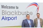 Chris Gazzard, Blackbushe Airport manager and Russell Halley, general aviation regional sales manage