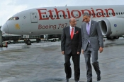 Ethiopian Airlines' Tewolde Gebremariam proud to host President Obama in Addis Ababa.