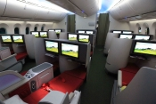 Ethiopian Airways has fitted lie flats in its B787 Dreamliner.