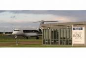 Gulfstream 650 on London Oxford Airports runway.