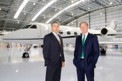 Jonathan Clements and Chris Rooney - Bookajet Directors with latest Gulfstream