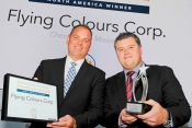 Kevin Kliethermes director of sales, and Sean Gillespie, executive VP,  accepted the award.