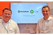 L-R Alexander Junge, MD Northern Europe, Air BP and Uwe Nitsche, CEO RocketRoute at AERO Friedrichsh