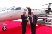 Lucino Favero, Sales & Business Development, Embraer with Dave Jackson, Director, GroupJet.