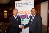 Mark Ness, Commercial Director for India - Pattonair, and Mr Ramesh Abhishek, Secretary.