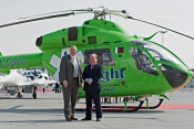 Quest @ Dubai Air Show - Perry Orr MD Helicopters (left) & Mike Creed Quest