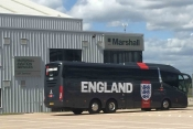 The England Football Team Coach at Marshalls Birmingham FBO