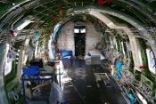 The FAI Bombardier Global interior undergoing conversion.